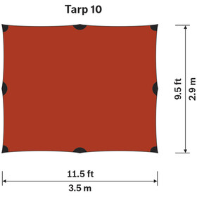 Hilleberg Tarp 10 XP brun